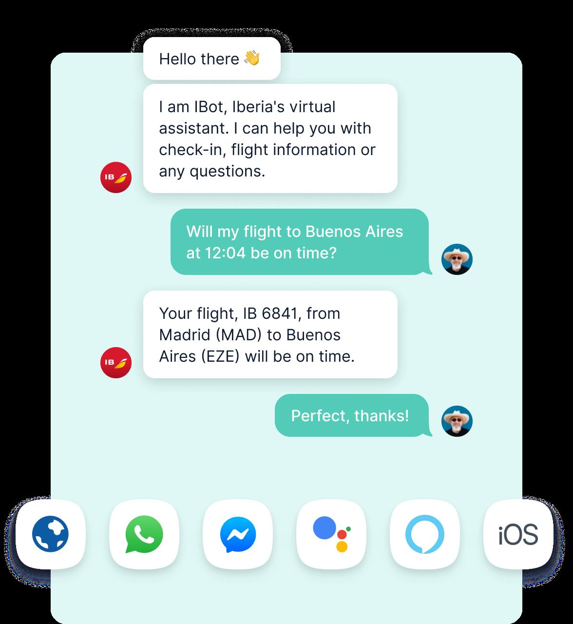 Chatbot Providing Flight Information