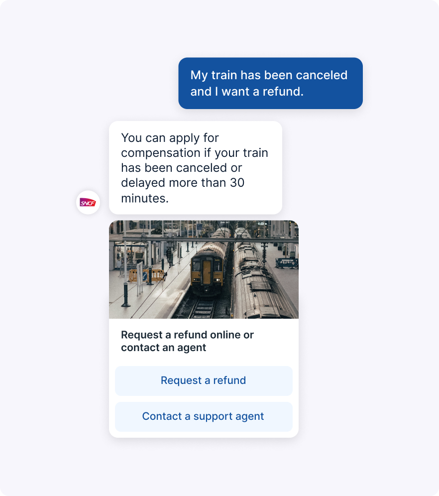 Chatbot Helping with Train Refund