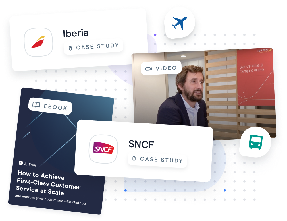 Iberia Case Study, SNCF Case Study, Airline eBook, and Client Interview