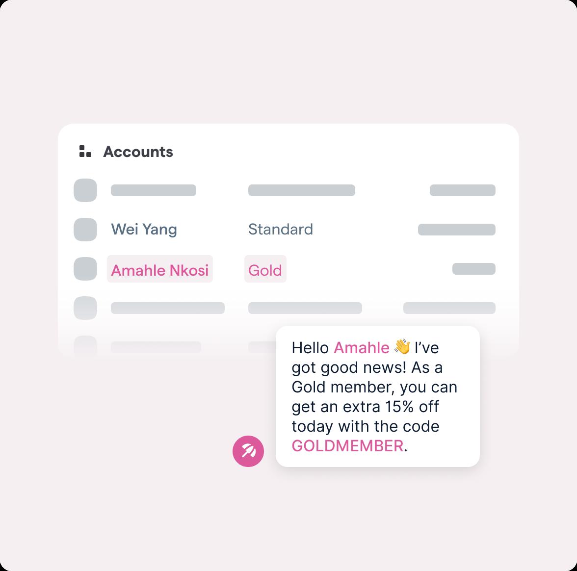Upgrade Account Status Message
