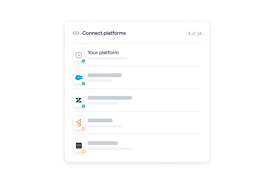 Connecting Platforms Including Custom Tools, Salesforce, Zendesk, Genesys, and Intercom