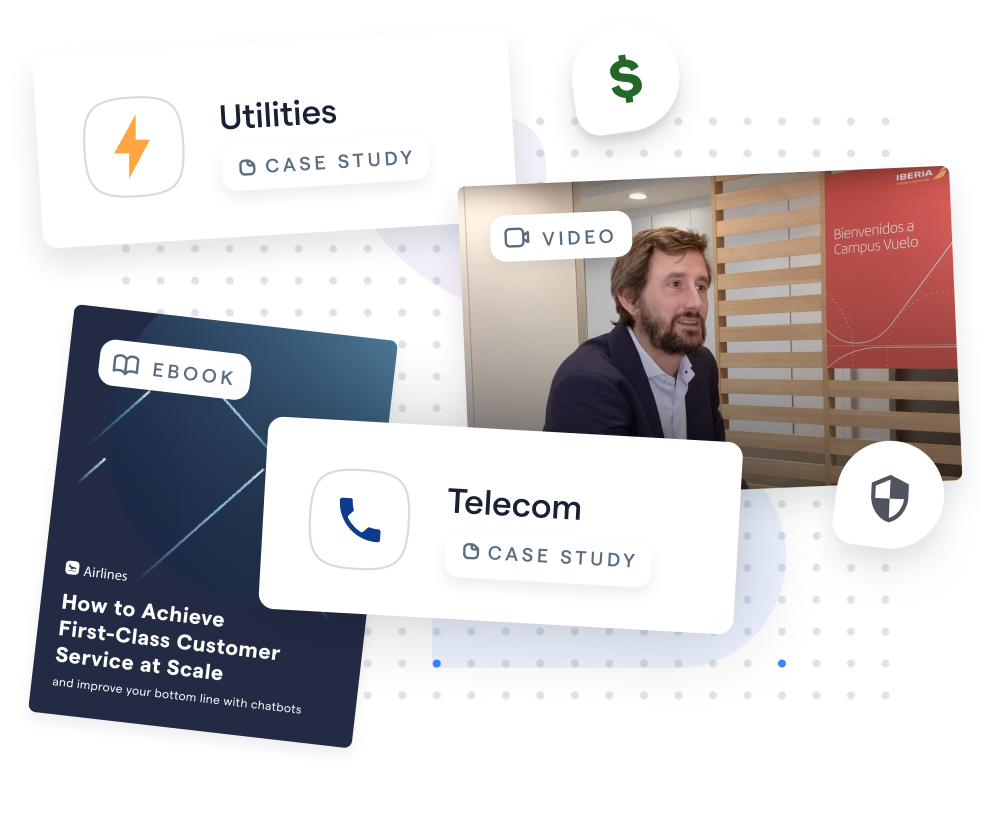 Utilities Case Study, Telecom Case Study, Airline eBook, and Client Interview