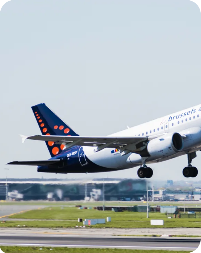 Brussels Airlines plane taking off