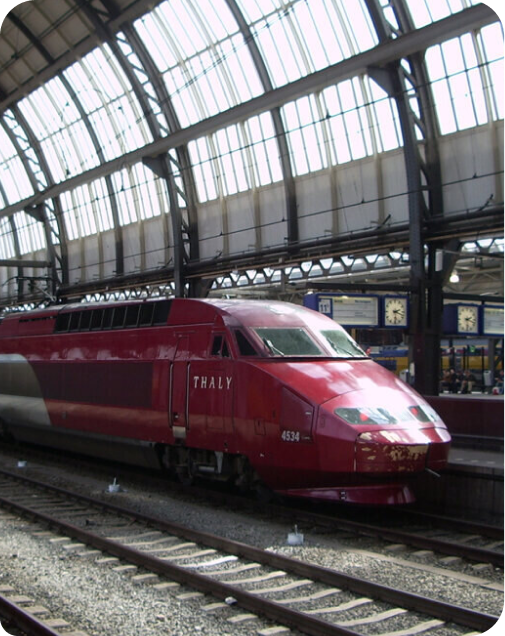 Thalys train in station
