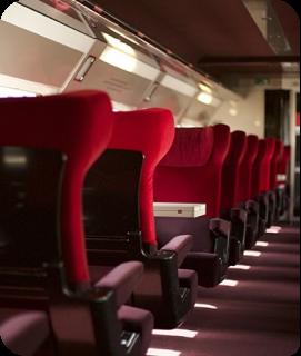 Seats in a train