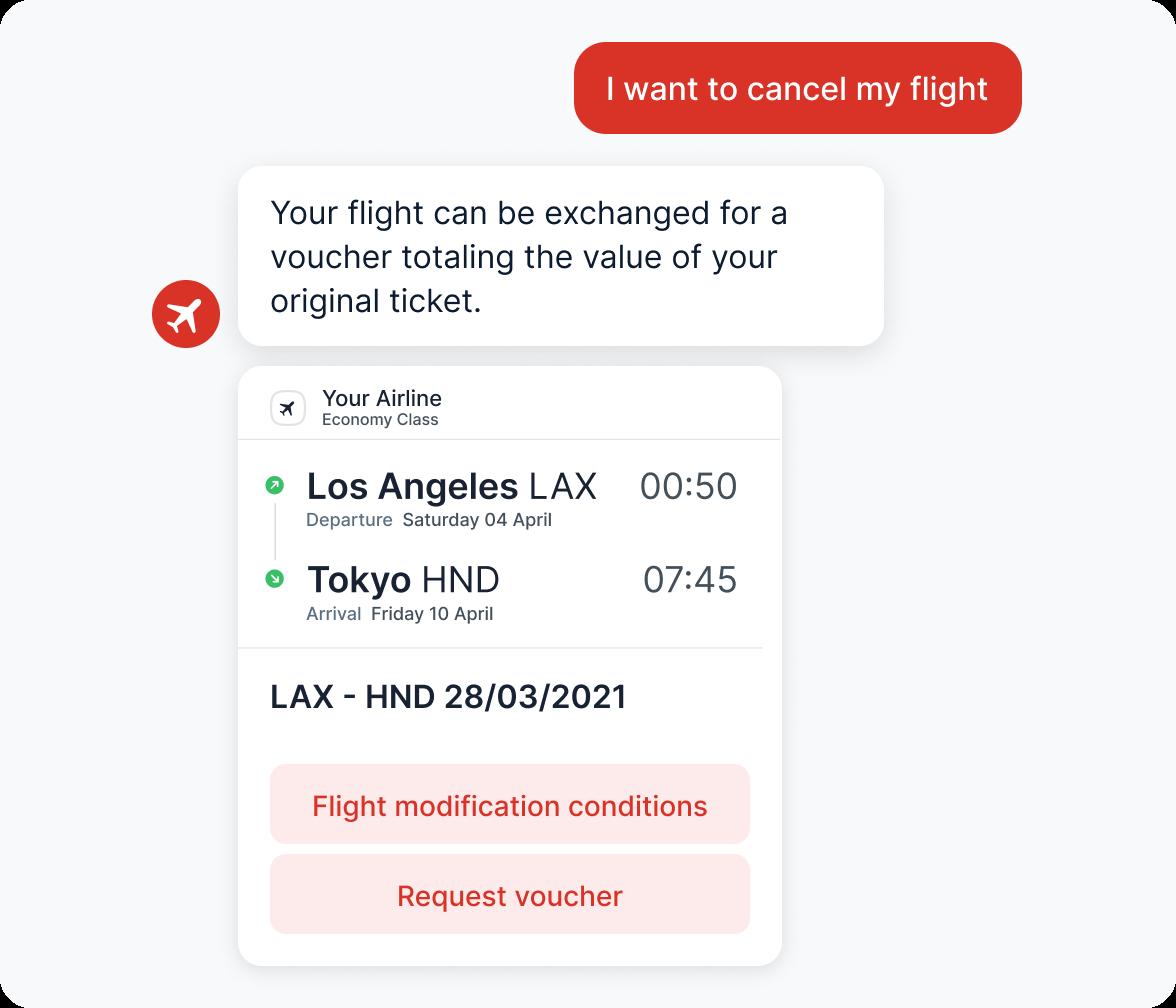 Automatically canceling a flight a bot