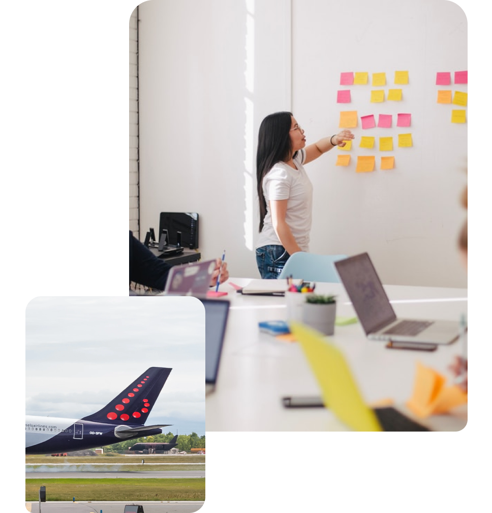 Brussels Airlines and Woman Working