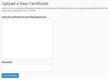 upload SSL certificates