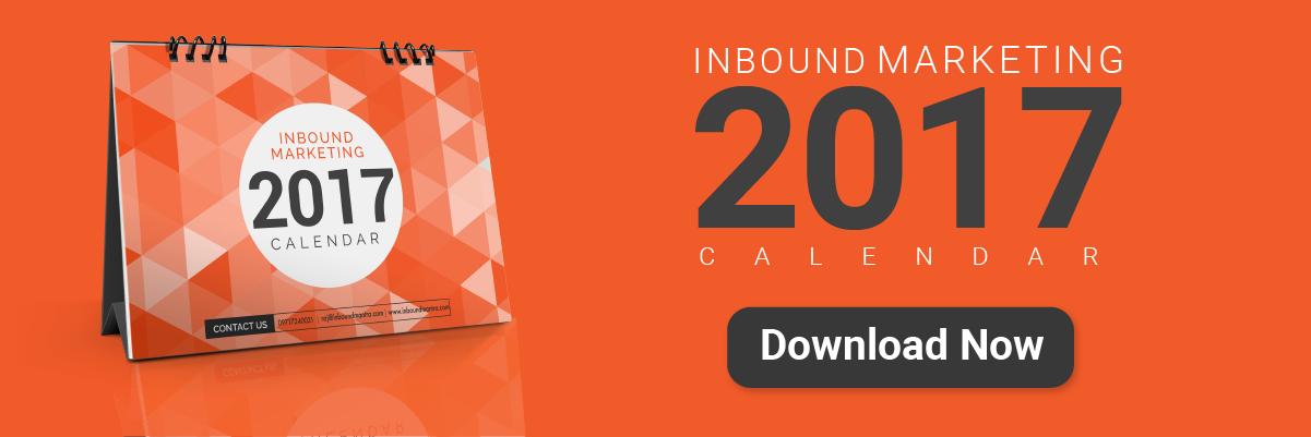 Inbound Marketing Calendar 2017
