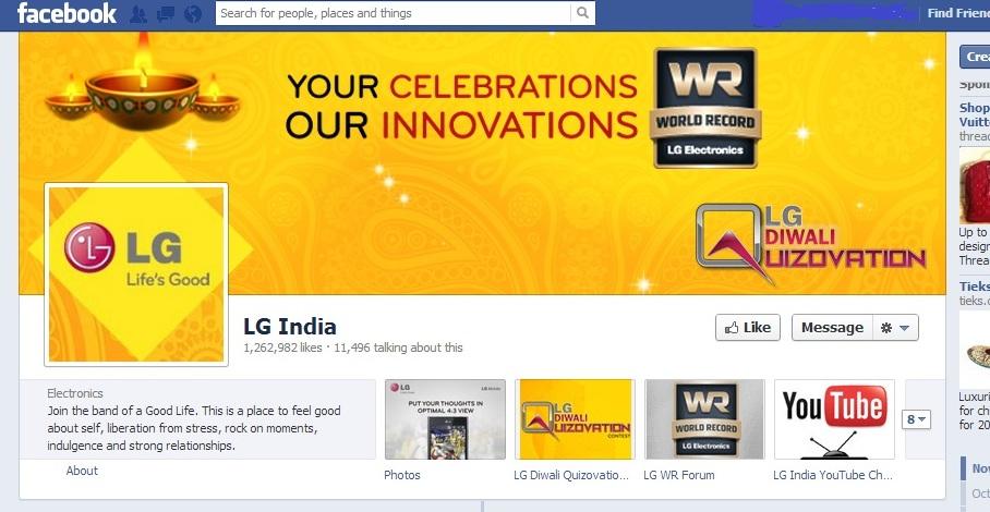 LG Facebook Social Media Marketing Diwali Festive Season