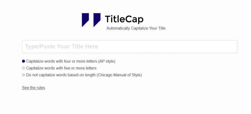 Title Capitalization Tool