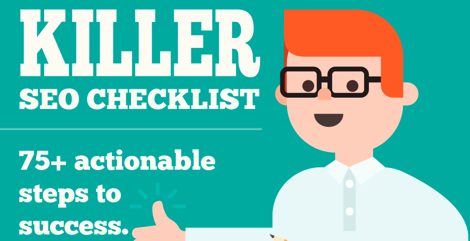 A Simple SEO Guide - 75+ Steps To Improve Your Search Traffic (Infographic)