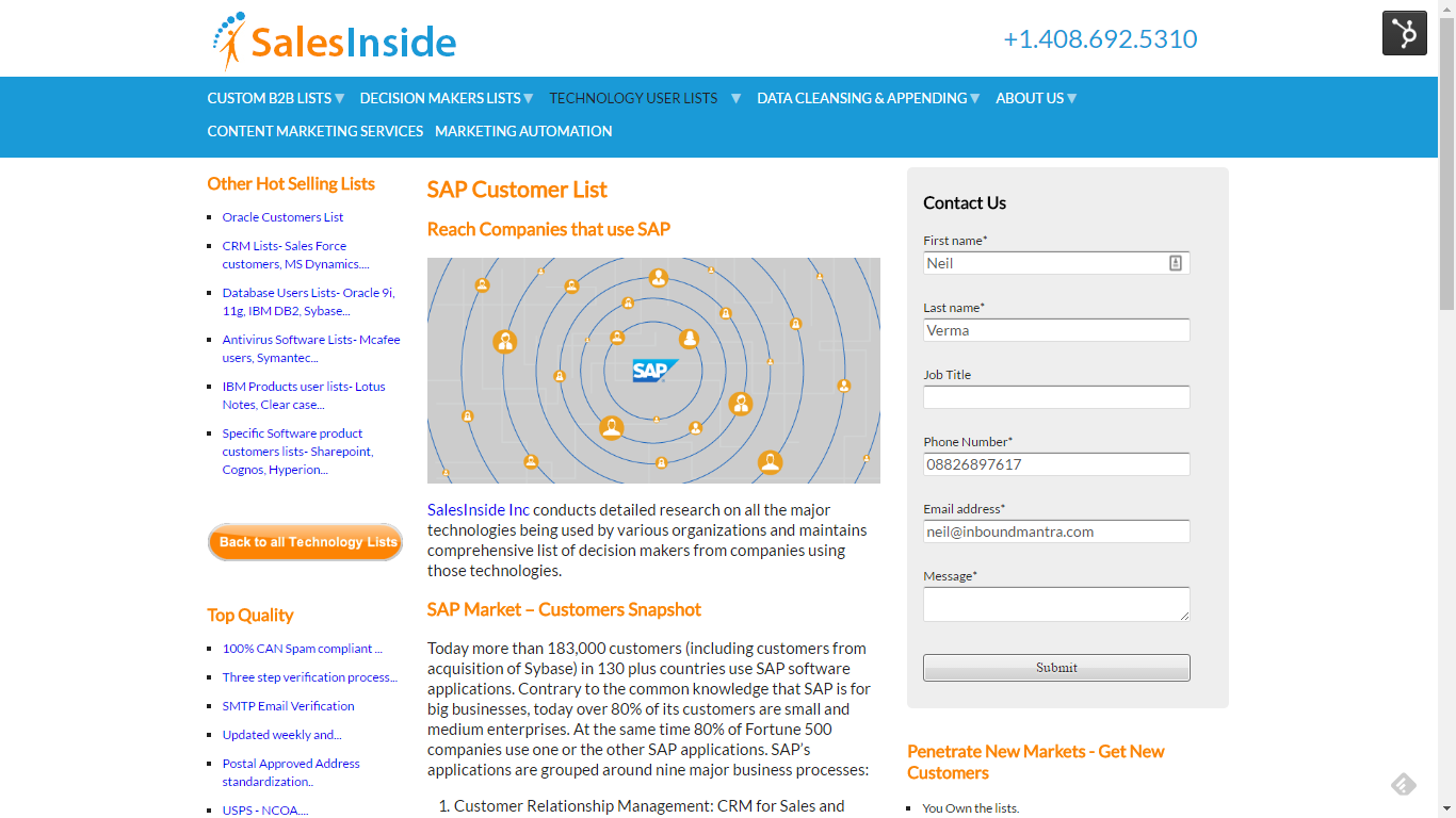 Old Landing Page - SalesInside Inc