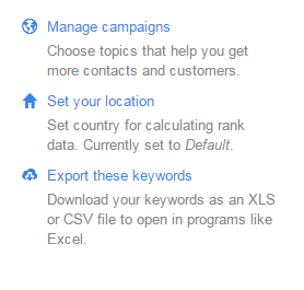 Hubspot keyword tool location setting