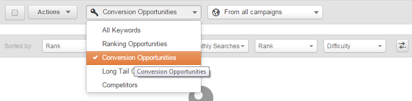 hubspot keyword tool conversion opportunities