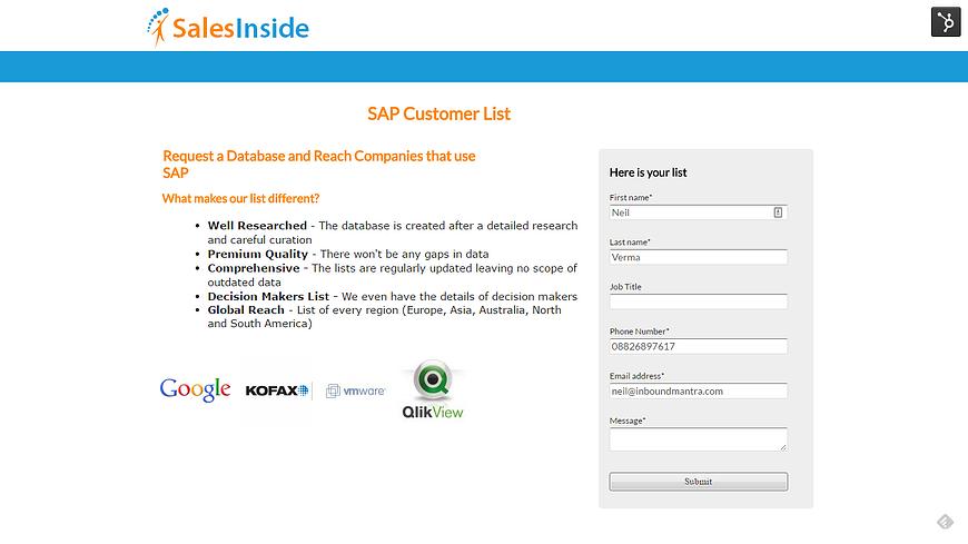 New Landing Page - SalesInside Inc