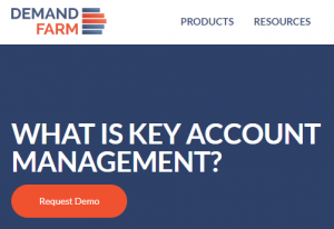 CTA placement in key account management page