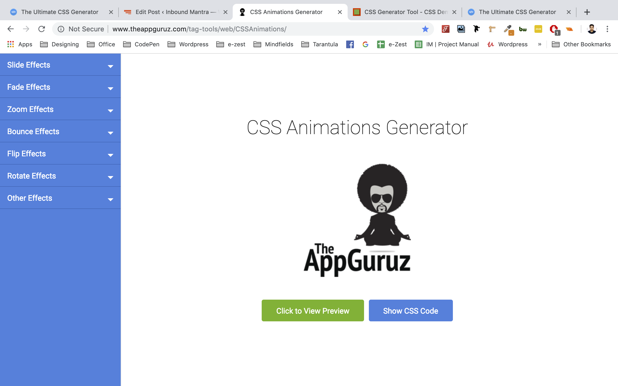 free tools for developers _ css animations generator