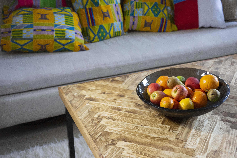 A Herringbone Coffee Table in Living Room (InUse-ReUse Furniture)