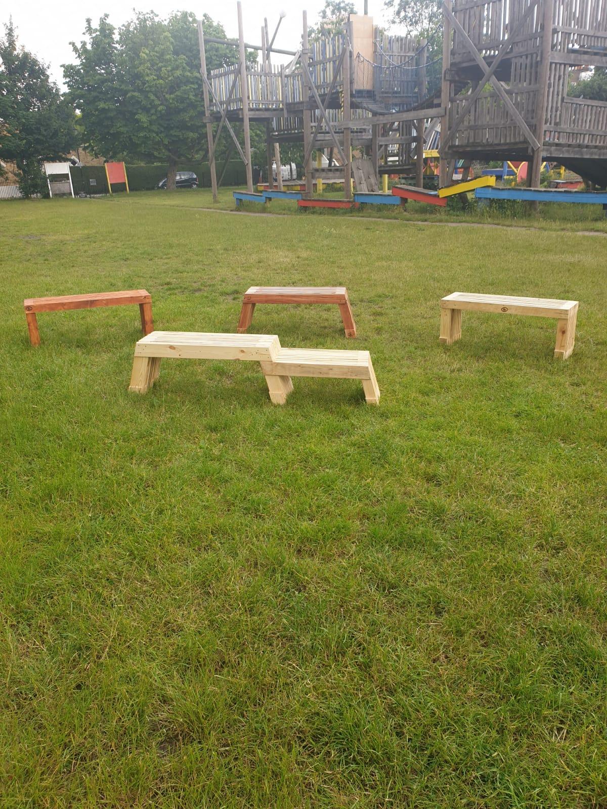InUse-ReUse Garden Benches
