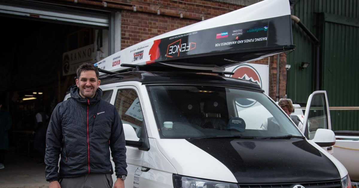 photo of Jordan Wyliw with his Rannoch Explorer on a van roof rack