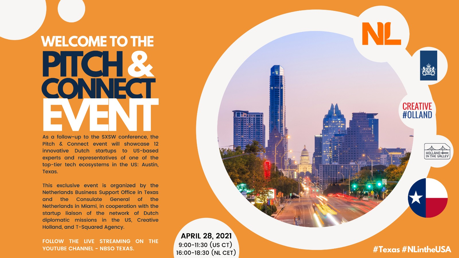 Pitch & Connect with Texas!