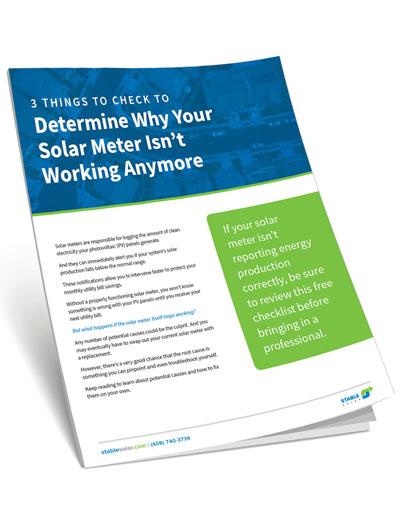 Solar Meter Free Checklist