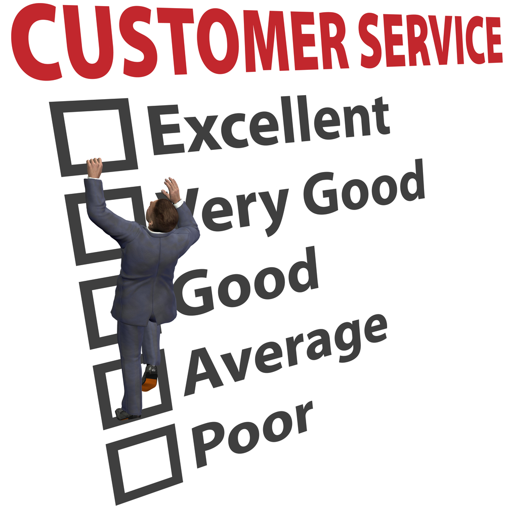 Customer service ratings