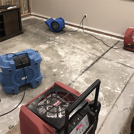 water damage mitigation in a denver home