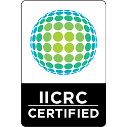we are an iicrc certified cleaning firm