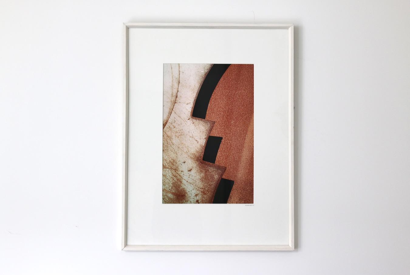 "John Callaghan ""Untitled"" – 1987 (cibochrome photo of rusty steel)"