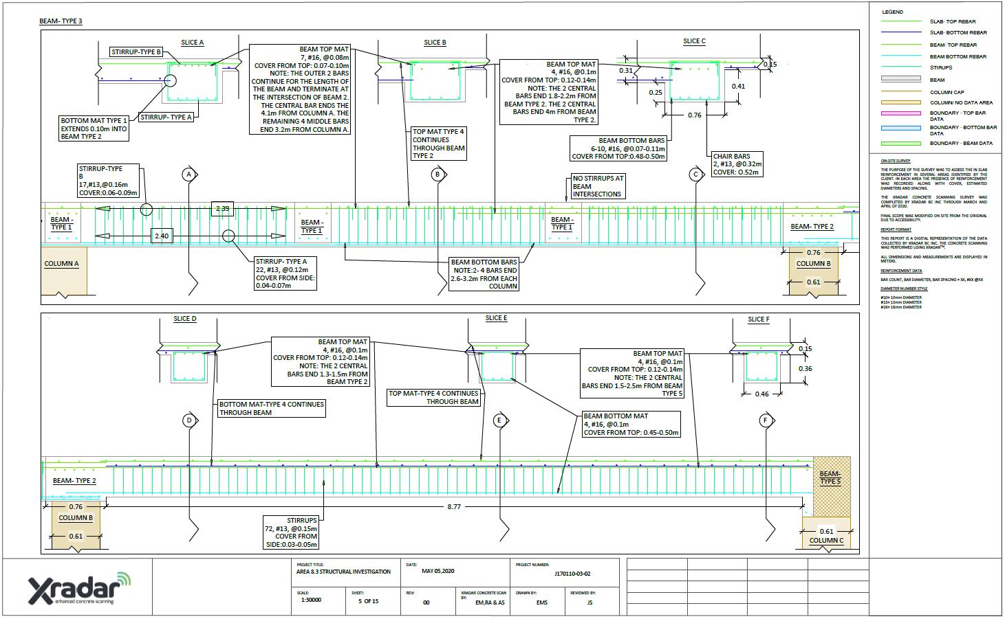 Xradar Structural Investigation Drawing