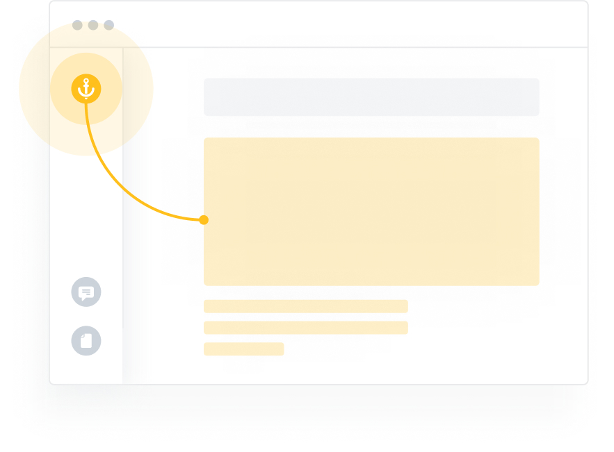 Skip-to-content in action, bypassing the navigation