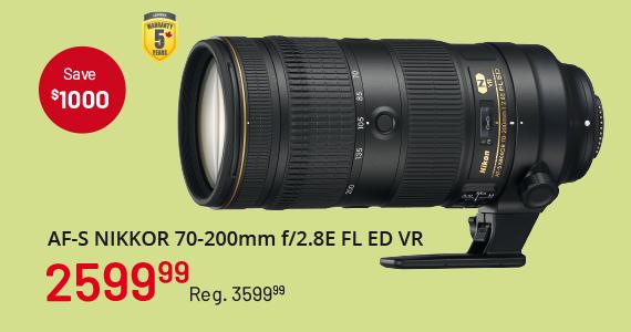 AF-S Nikkor 70-200mm f/2.8E FL ED VR