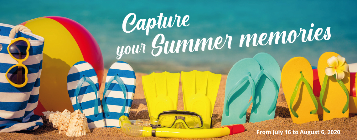 Capture your Summer memories - summer flyer