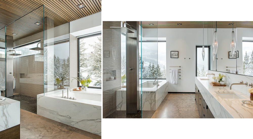 Here are two different perspectives from a gorgeous bathroom - both are great images that show off the bathroom very differently.  Architect -  Stuart Silk Architects   Builder -  Charter Construction