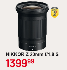 NIKKORR Z20mm f/1.8 S
