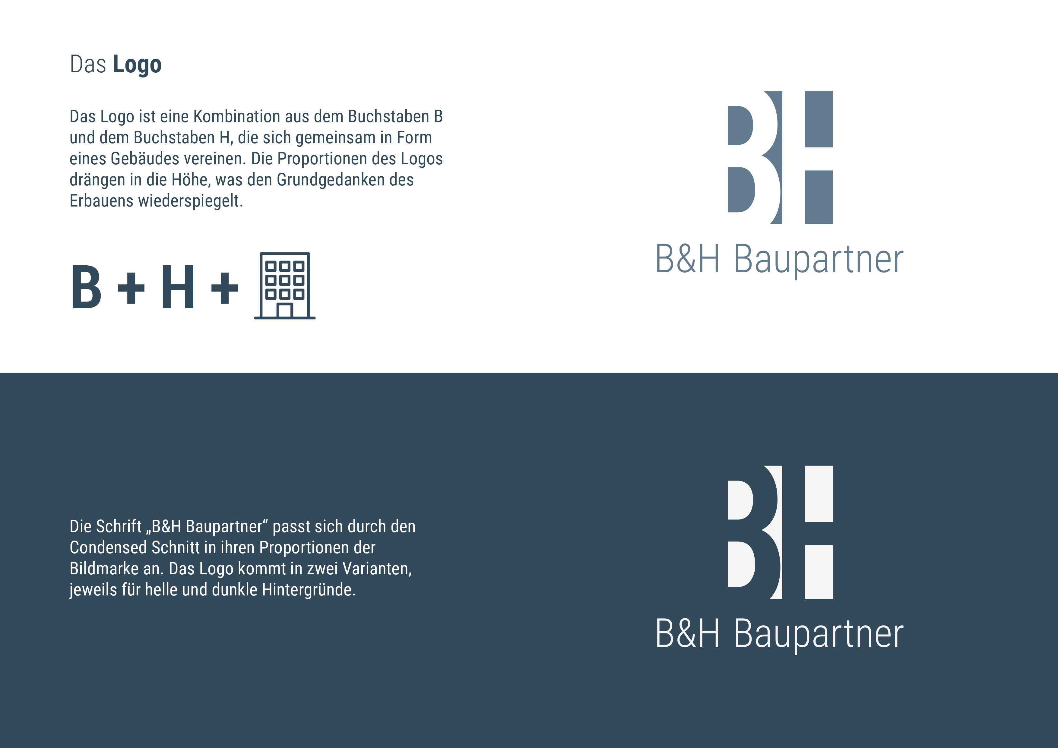 8178af165725b5 Corporate Design + Logo - B+H Baupartner - NP MARKETING