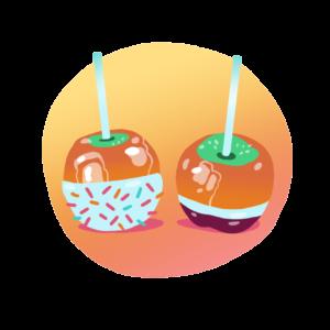 Caramel apples in Spanish