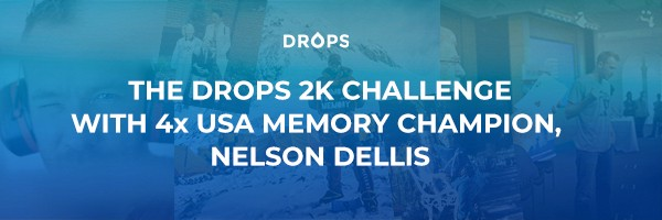 The Drops 2k Challenge with 4x Memory Champion Nelson Deliis