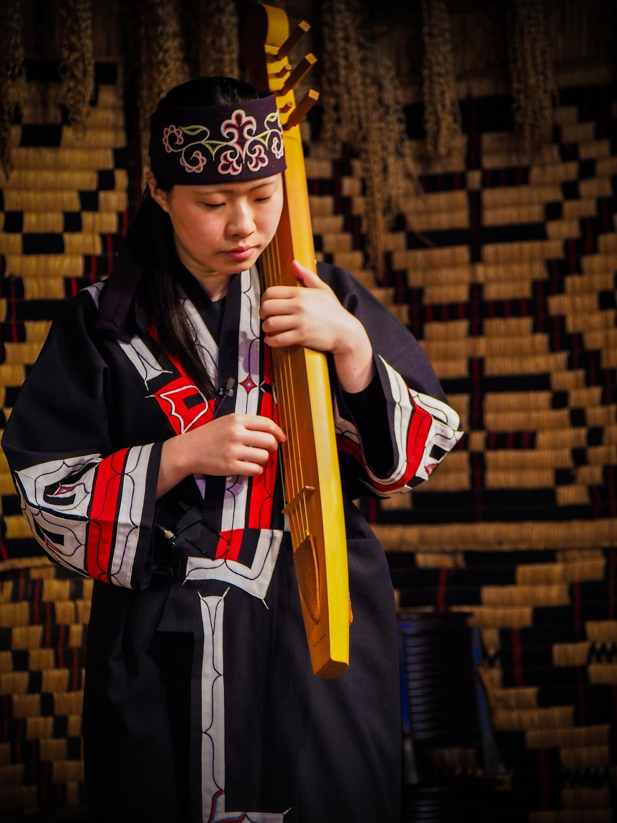 The Tonkori—a traditional musical instrument played by the Ainu people.