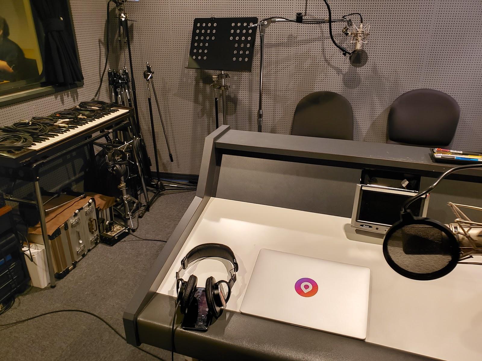 Recording studio for Ainu