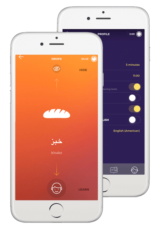 Learn Arabic with Drops in 5 minutes a day