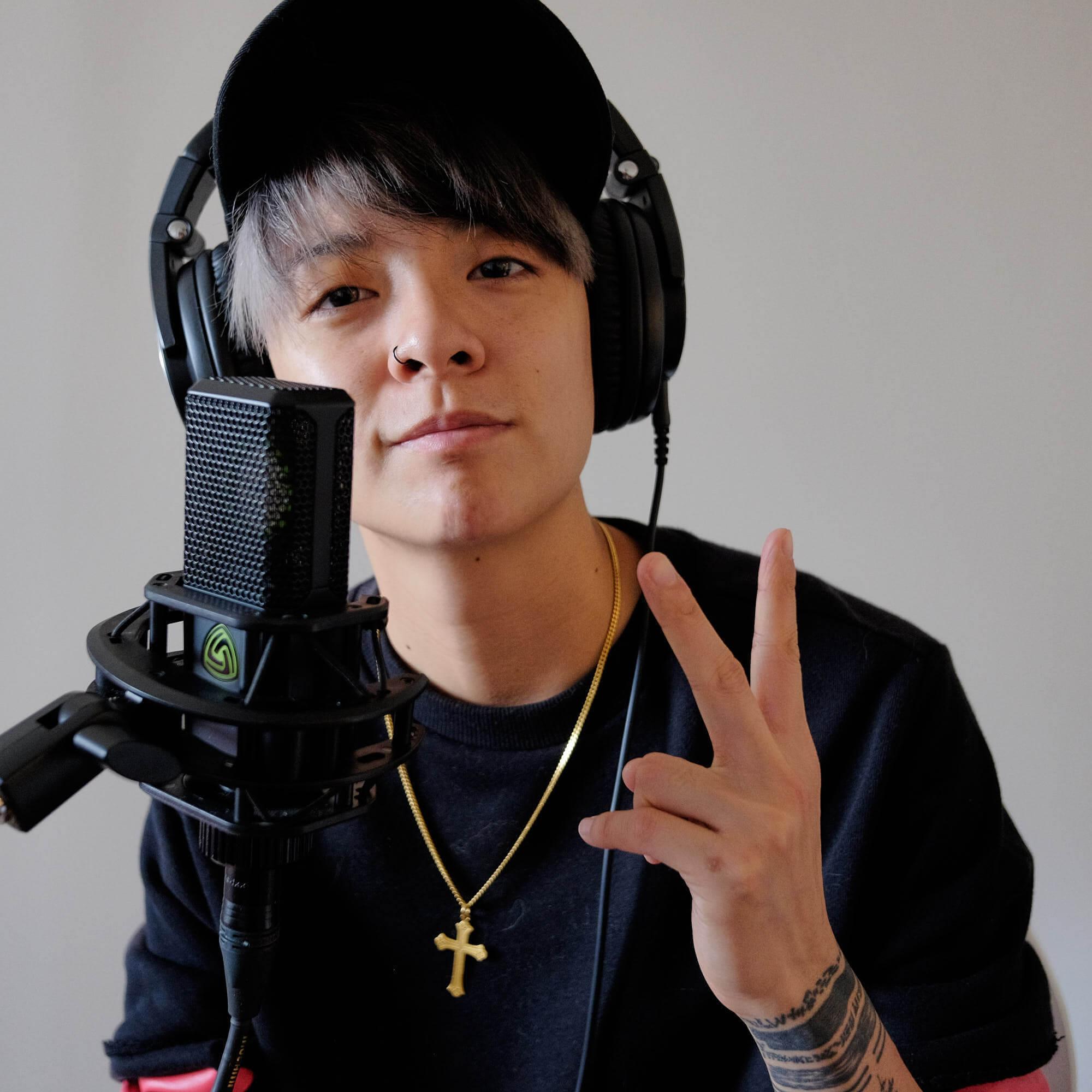 Amber Liu recording for Drops