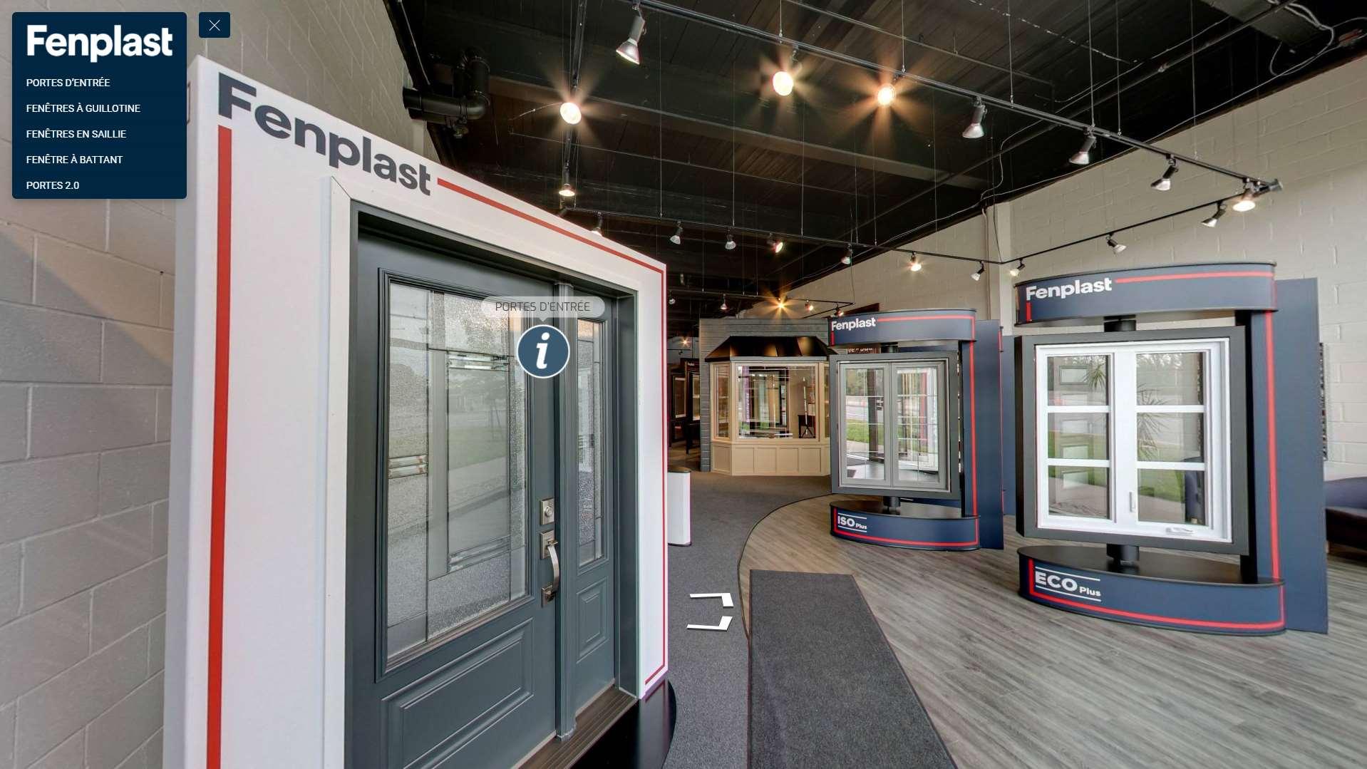 Virtual showroom in 360