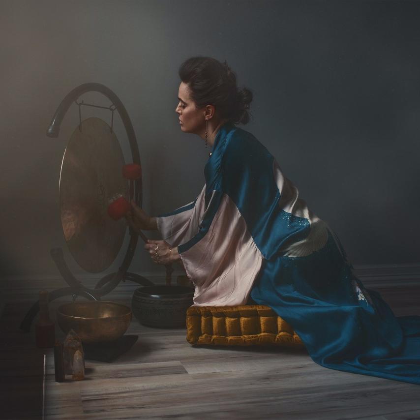 Meribeth performing a ritual