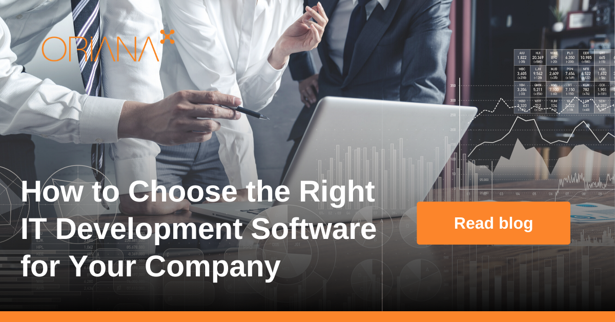 Choosing the right IT development software for customized business applications