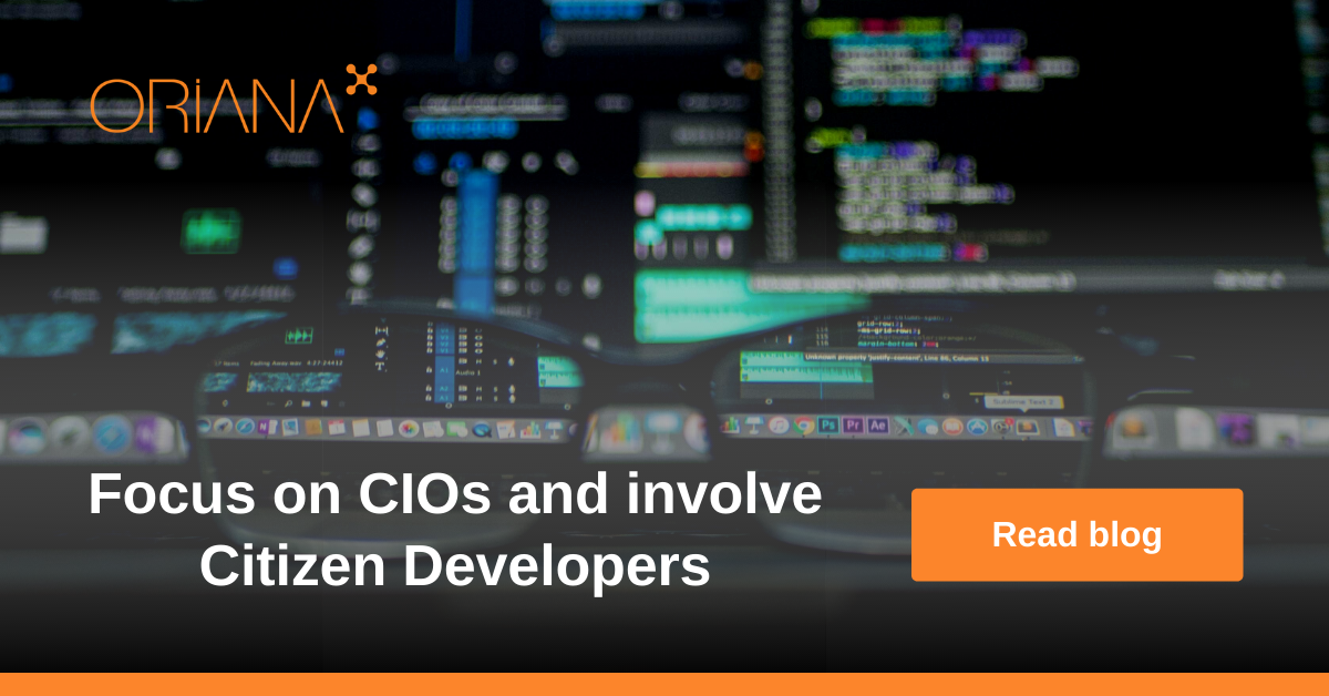 Focus on CIOs and involve citizen developers