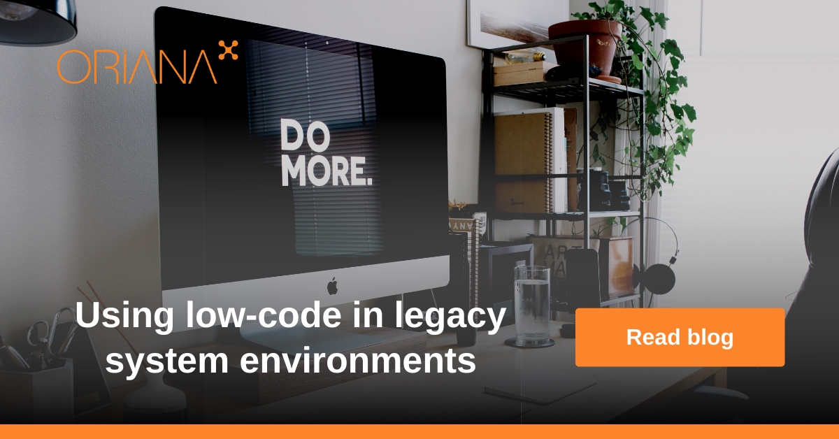 Using low-code in legacy system environments