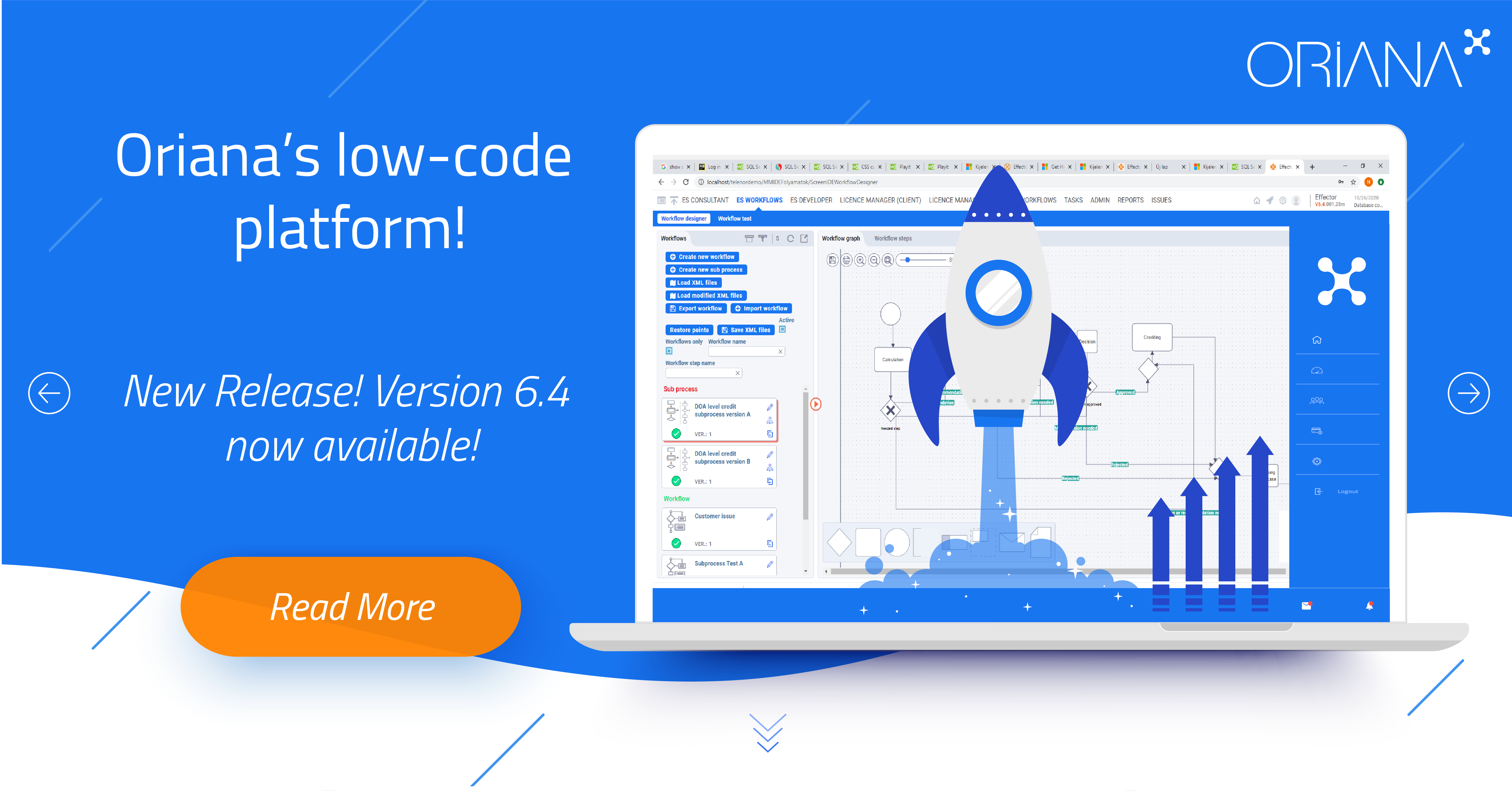The updated version of Oriana's low-code platform is here! WebAPI, RPA, No-code and many more in the 6.4 version